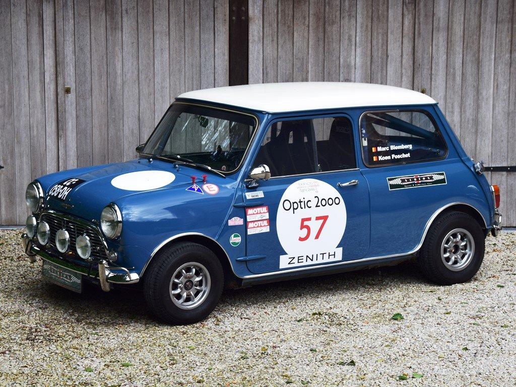 1967 Austin Mini Mk1 Cooper S. Ex-Tour Auto. FIA HTP For Sale (picture 1 of 6)