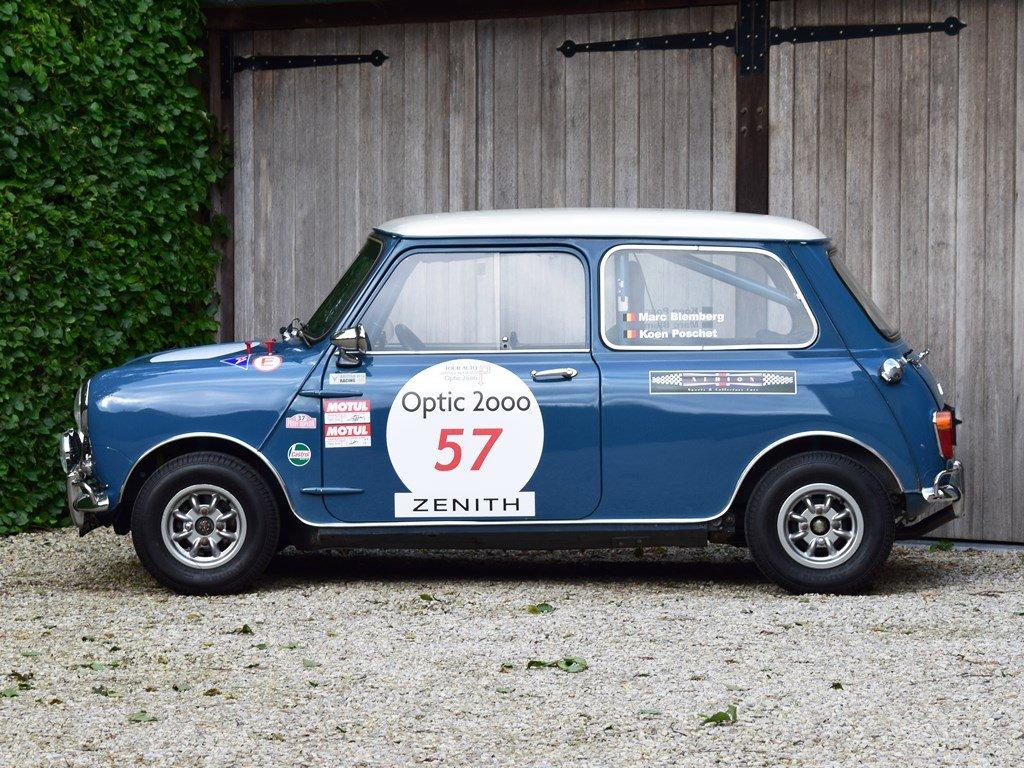 1967 Austin Mini Mk1 Cooper S. Ex-Tour Auto. FIA HTP For Sale (picture 2 of 6)