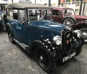 1937 Austin 7 'AAL' Four Seat Tourer SOLD