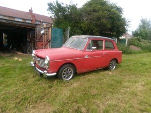 Red 1966 Austin A40 Farina project