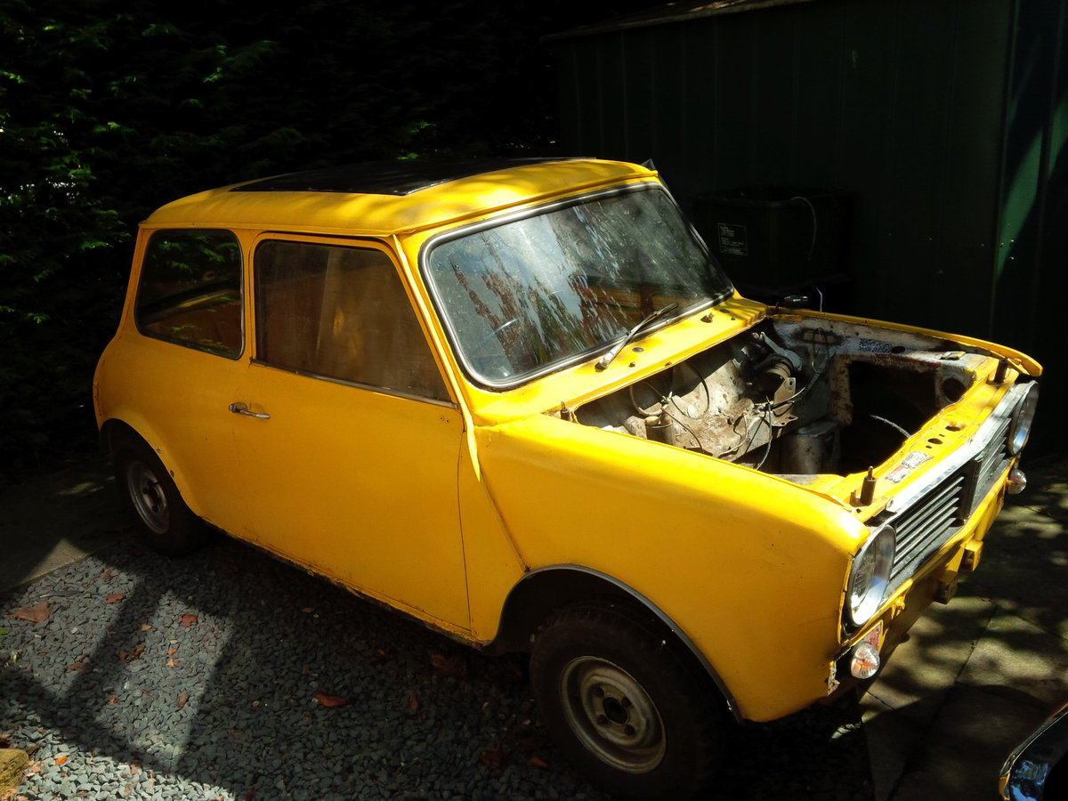 Classic Mini 1275 GT 1970 Genuine H Reg Project For Sale (picture 1 of 6)
