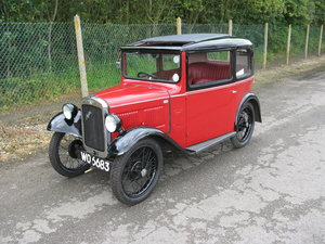 1932 Austin 7 RN Box Saloon, with sunroof.