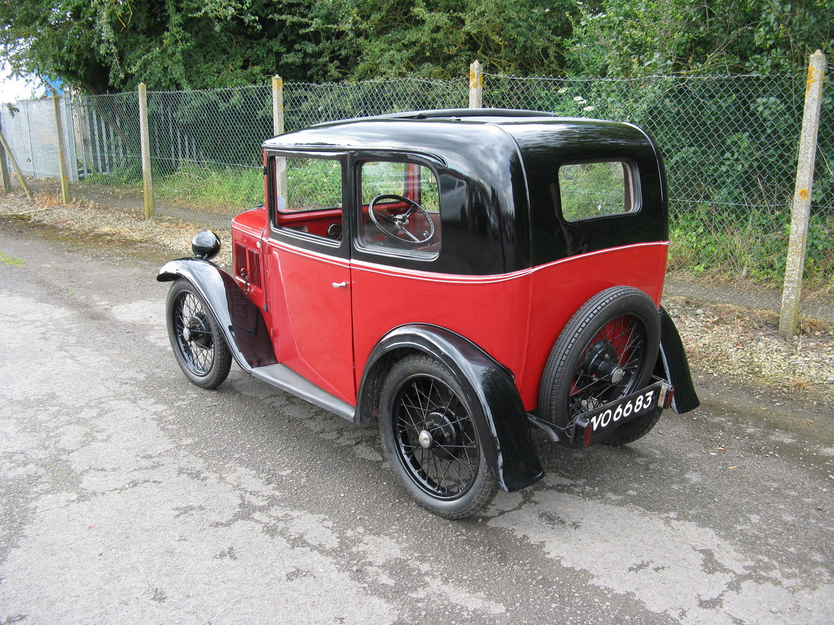 1932 Austin 7 RN Box Saloon, with sunroof. SOLD (picture 2 of 6)