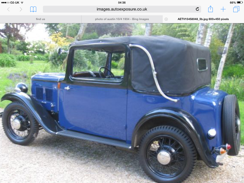 1934 Drop Head Austin For Sale (picture 3 of 5)