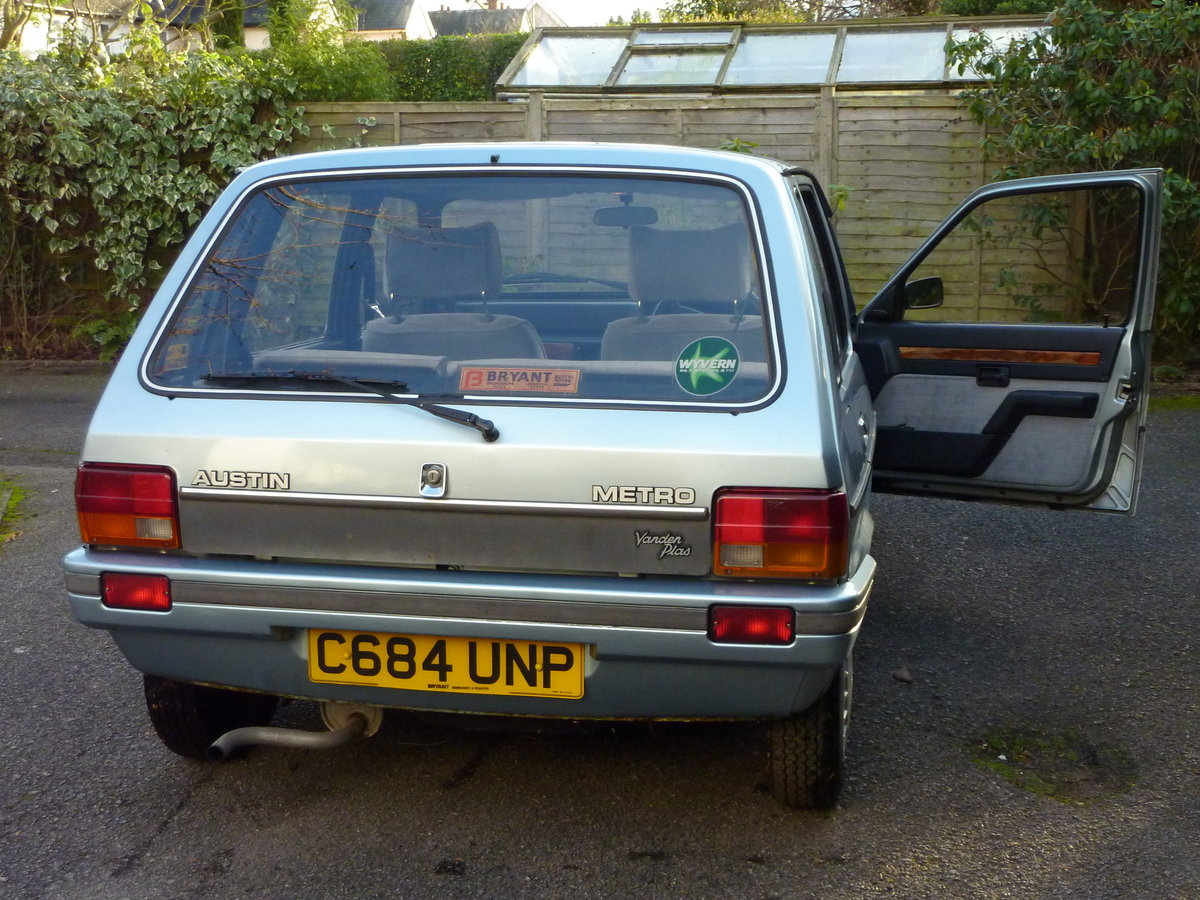 1986 Austin Metro Vanden Plas-One owner from new SOLD (picture 5 of 6)