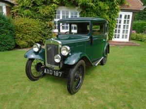 1934 Austin Seven RP 'De-Luxe' Box Saloon SOLD