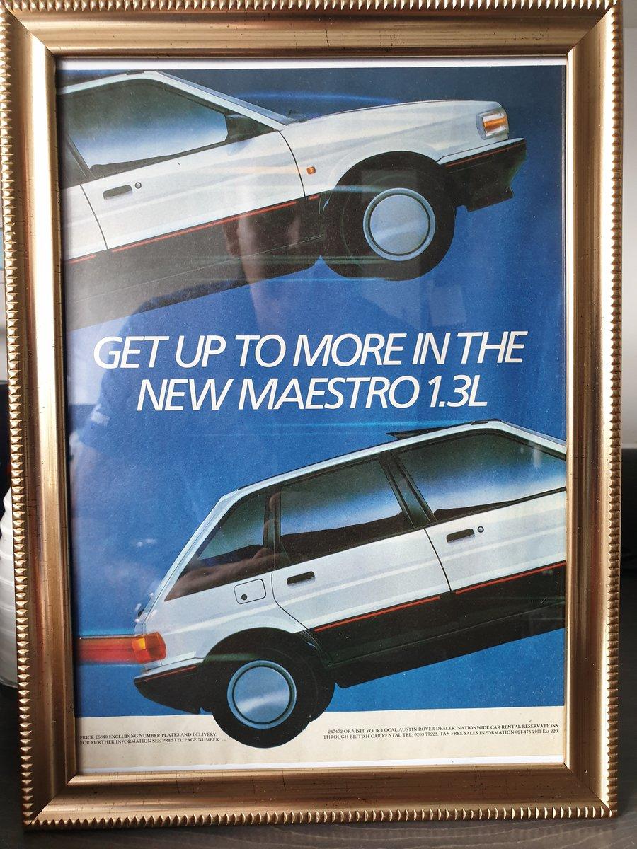 Original 1987 Austin Maestro Framed Advert  For Sale (picture 1 of 3)