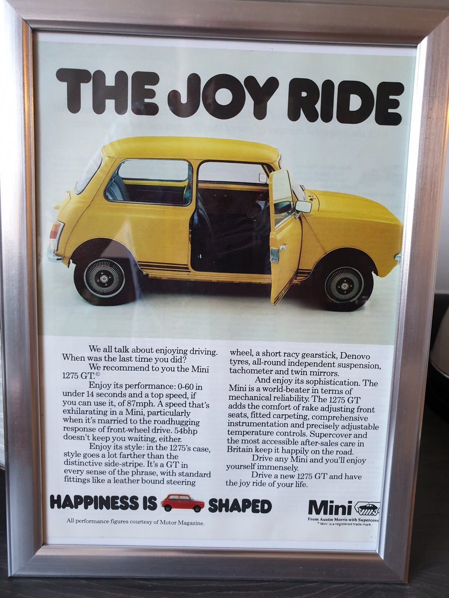 1978 Mini 1275 GT advert Original  For Sale (picture 1 of 2)
