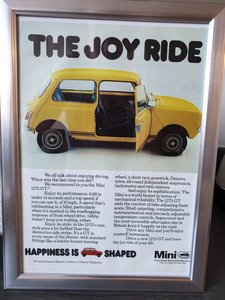 1978 Mini 1275 GT advert Original