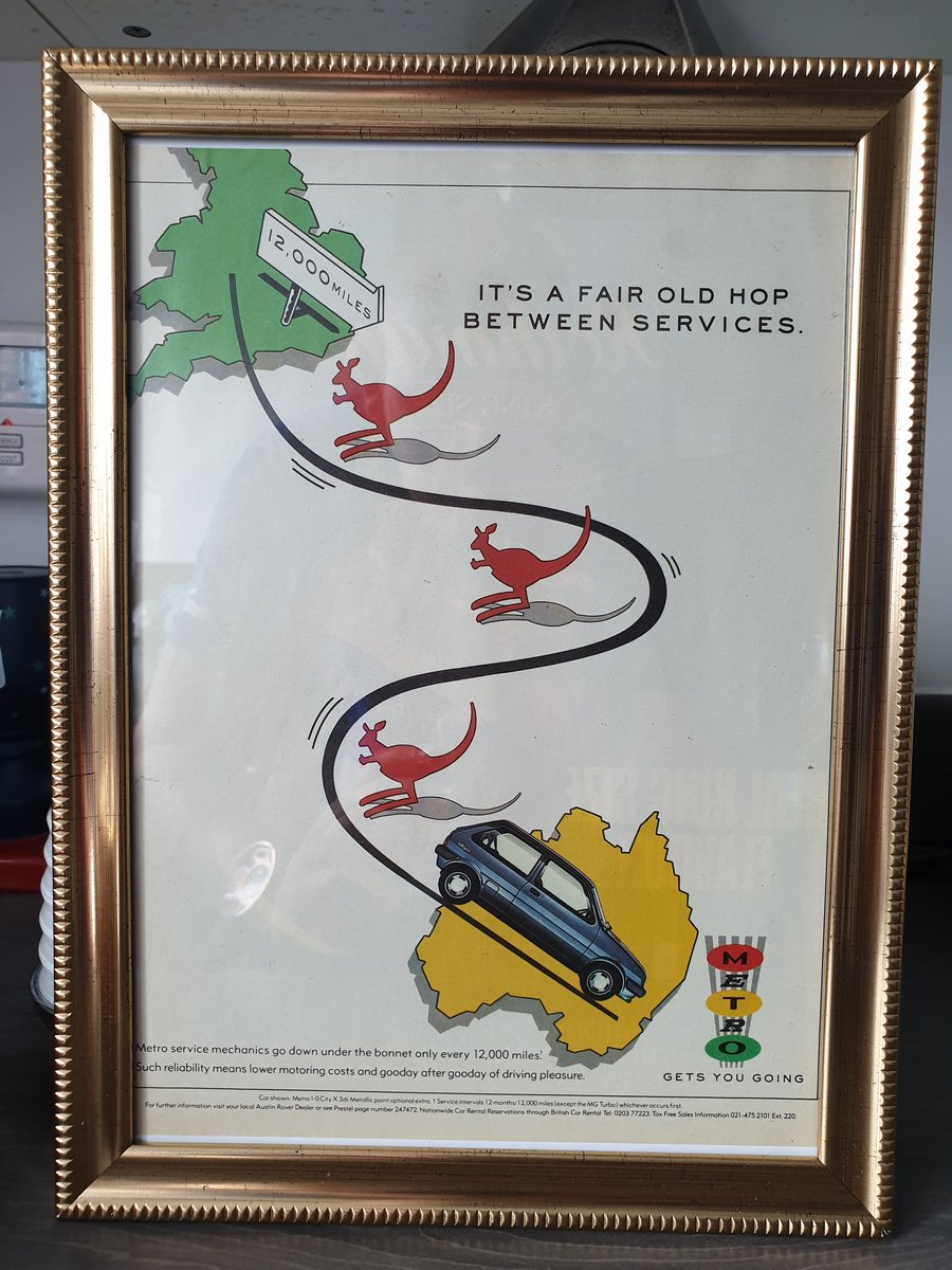 1987 Metro advert Original framed  SOLD (picture 1 of 2)
