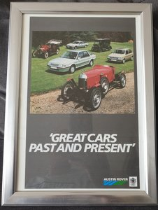 1986 Original Austin Rover range advert