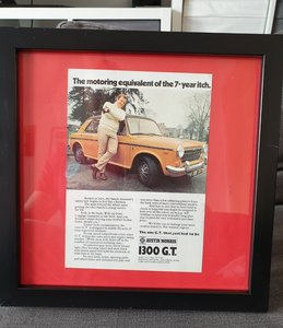 1970 Austin 1300GT A5 advert Original