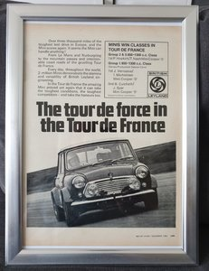 1969 Original Mini Cooper S advert
