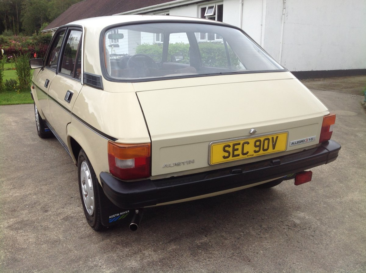 1981 Austin allegro 1.5 series 3 ( low miles ) For Sale (picture 4 of 6)