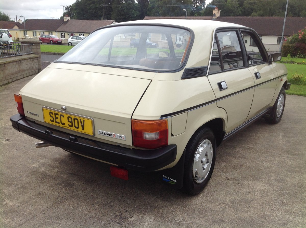 1981 Austin allegro 1.5 series 3 ( low miles ) SOLD (picture 5 of 6)