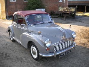 1964 Morris Minor 1000 Classic Convertible.
