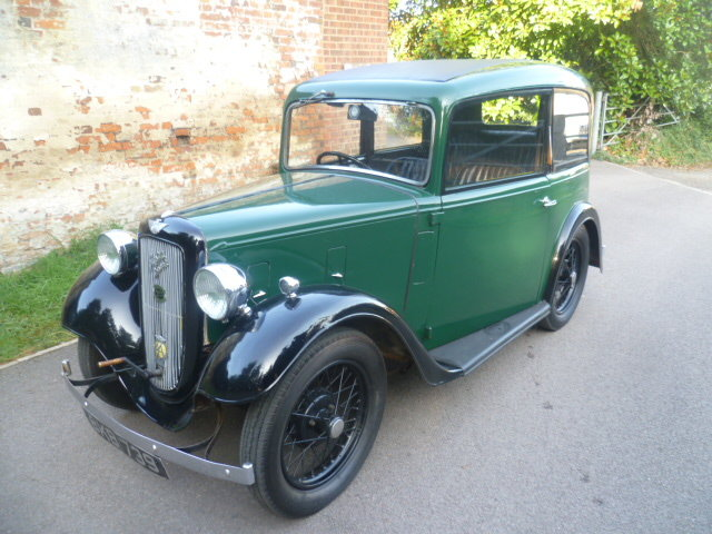1934  AUSTIN 7 RUBY SALOON SOLD (picture 1 of 6)