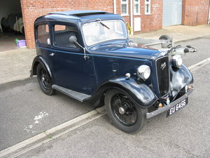 1937 Austin 7 Ruby Mk2 with sunroof. For Sale