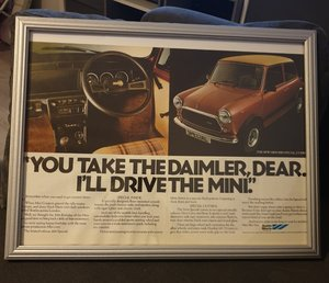 1979 Mini 1100 Special Advert Original