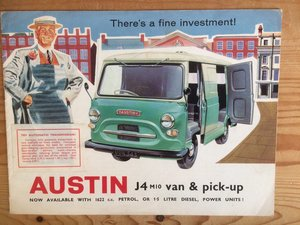 Austin J4 Van and Pick Up sales brochure For Sale