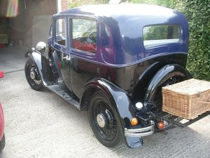 1933 Austin 10 crome rad with rare smoker roof For Sale