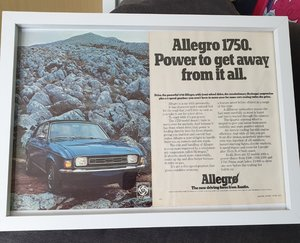 1973 Original Allegro 1750 Framed Advert For Sale