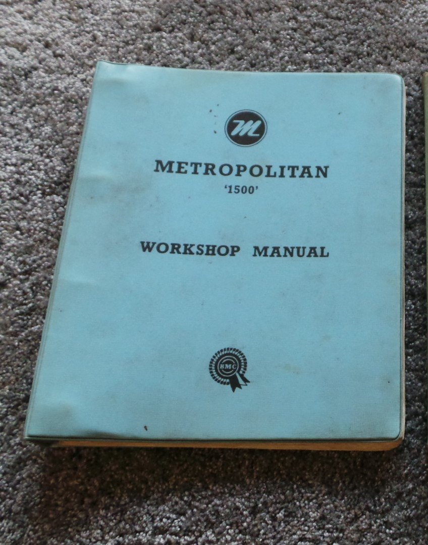 Austin Metropolitan workshop manual SOLD (picture 1 of 4)