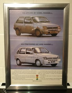 1988 Metro Framed Advert Original