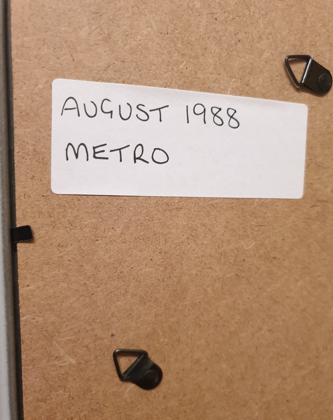 1988 Metro Framed Advert Original  For Sale (picture 2 of 2)