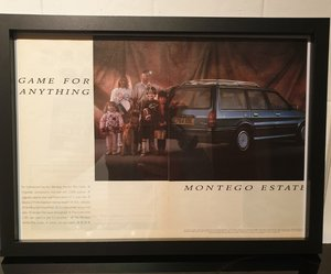 1987 Montego Estate Framed Advert Original  For Sale