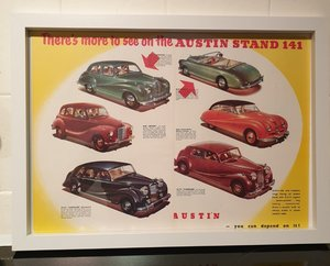 1950 Original Austin Framed Advert