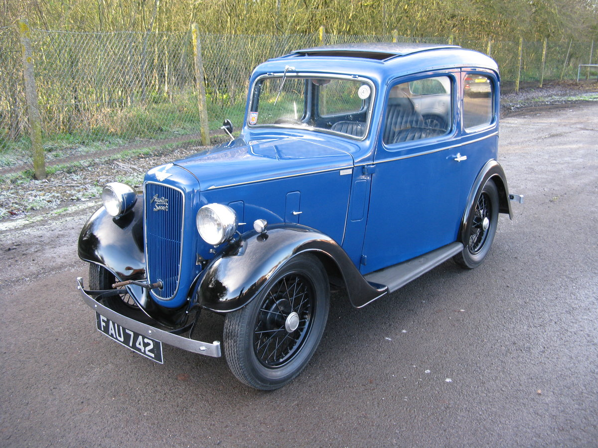 1938 Austin 7 Ruby Mk2 with sunroof For Sale (picture 1 of 6)