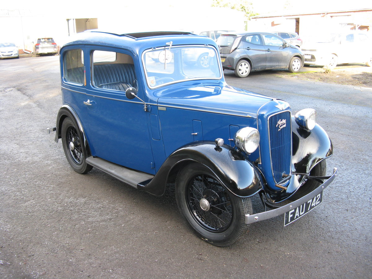 1938 Austin 7 Ruby Mk2 with sunroof For Sale (picture 3 of 6)