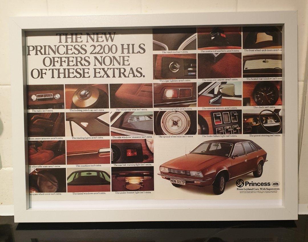 1976 Princess Framed Advert Original  For Sale (picture 1 of 2)