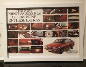 1976 Princess Framed Advert Original