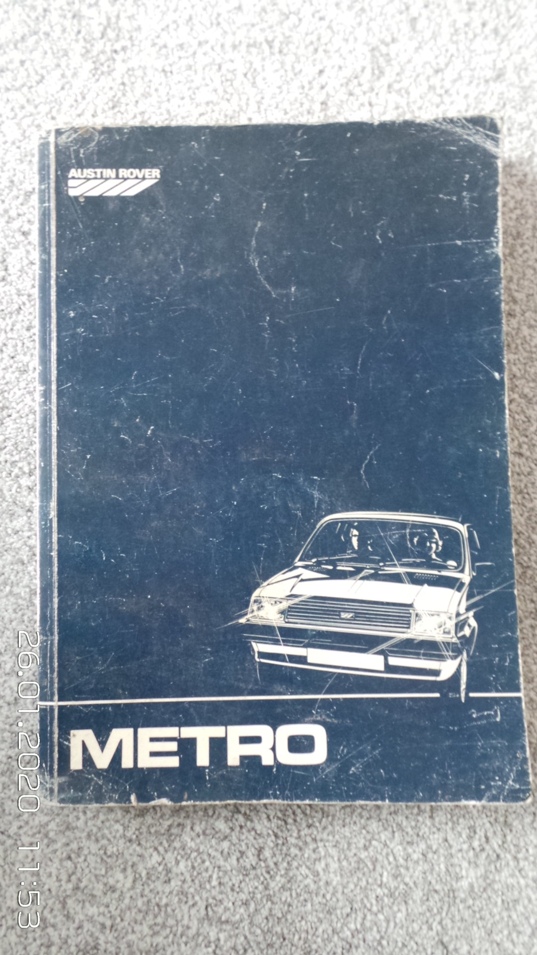 Original metro workshop manual SOLD (picture 1 of 3)
