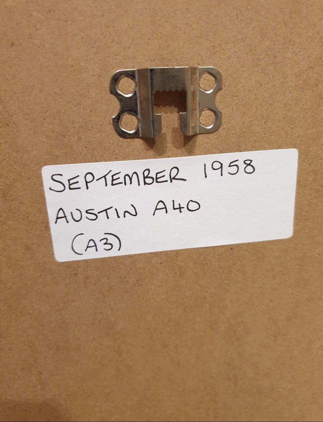 1958 Austin A40 Framed Advert Original  SOLD (picture 2 of 2)