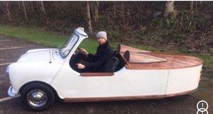 Austin Mini Unique 3 wheel special boat tailed car