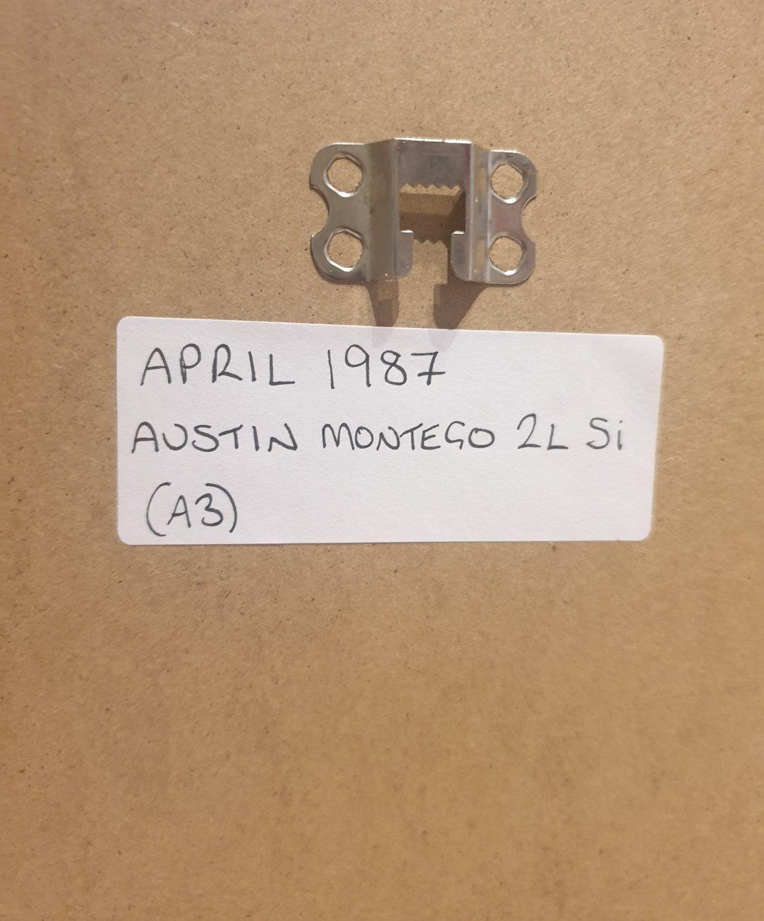 Original 1987 Montego Framed Advert For Sale (picture 2 of 2)