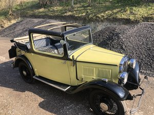 1933 Austin Ten Cabriolet  SOLD