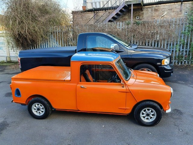 INCREDIBLE 1967 Austin Mini Pick-Up Truck For Sale (picture 1 of 6)
