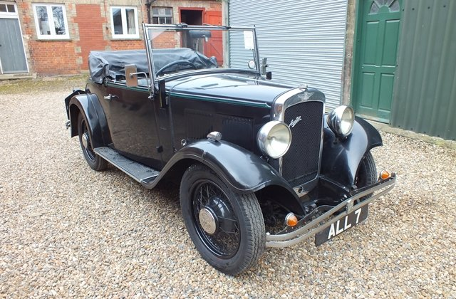 1934 Very original three owner Austin 10 two seater & dickey seat For Sale (picture 1 of 6)