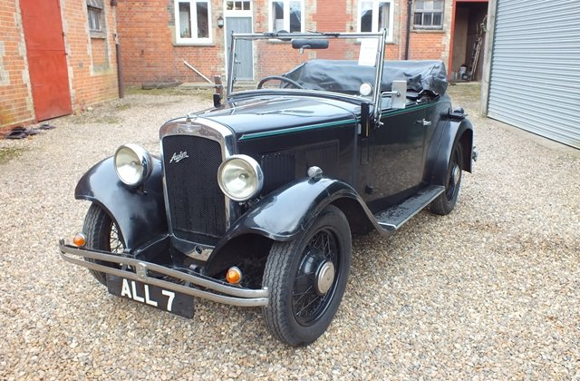 1934 Very original three owner Austin 10 two seater & dickey seat For Sale (picture 2 of 6)