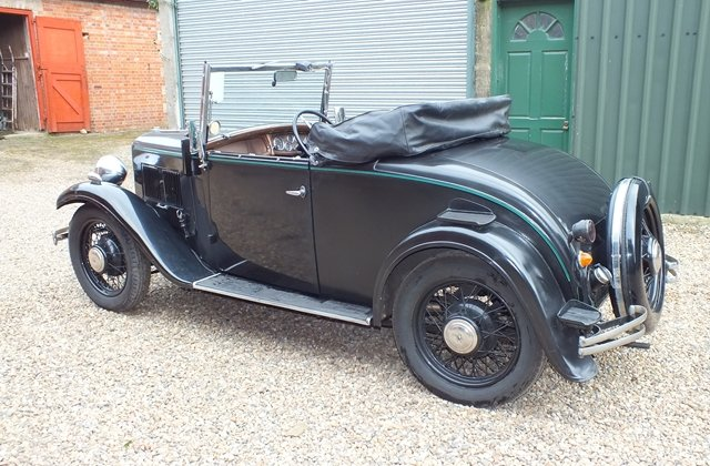 1934 Very original three owner Austin 10 two seater & dickey seat For Sale (picture 3 of 6)