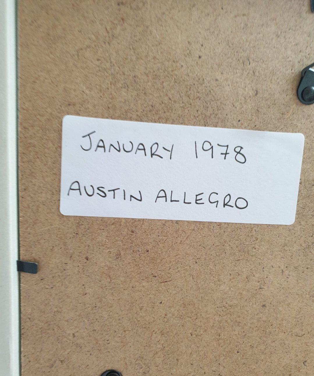 1978 Original Austin Allegro Framed Advert For Sale (picture 2 of 2)