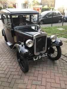 Austin 7 Saloon, lovely car.