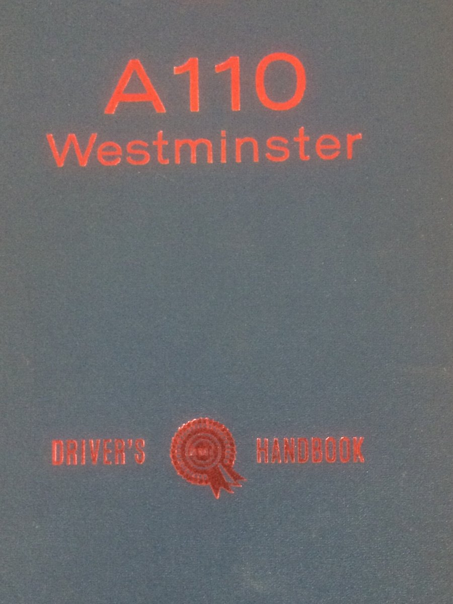Austin A110 Westminster drivers handbook. For Sale (picture 1 of 1)