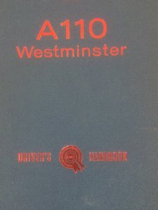 Picture of Austin A110 Westminster drivers handbook.