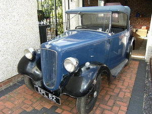Rare Austin Seven Opal with original 1937 Reg