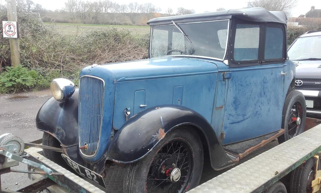 Rare Austin Seven Opal with original 1937 Reg For Sale (picture 2 of 6)